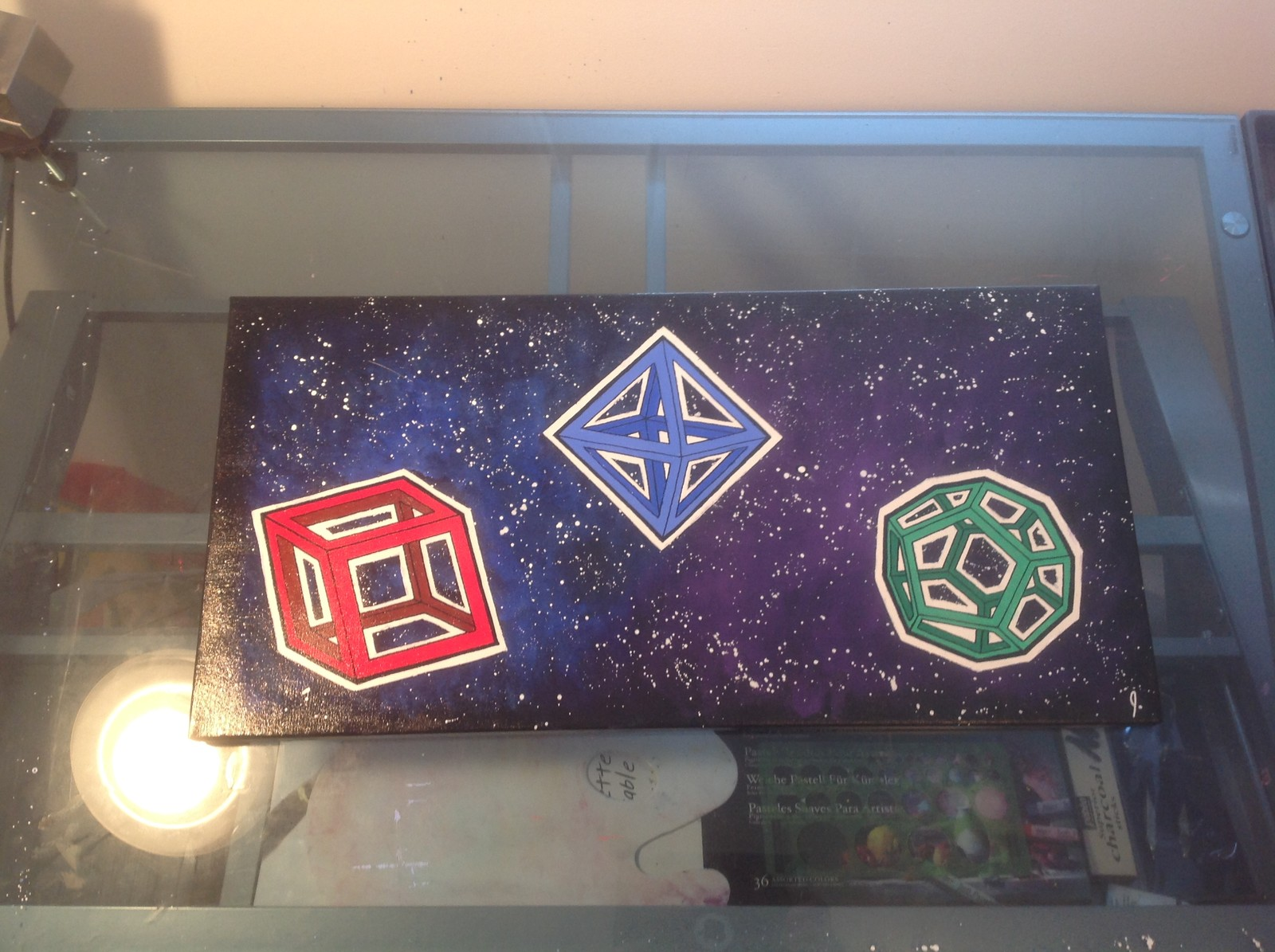 `Shapes in Space` 12 x 24 canvas Status: For Sale