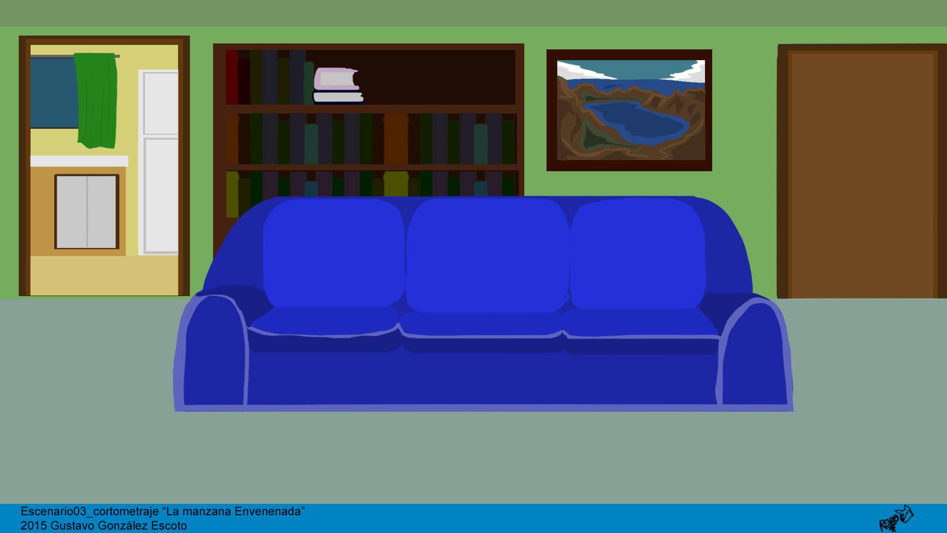 Background Desing For The Animated Short Poisoned Apple Manzana Envenenada Living Room