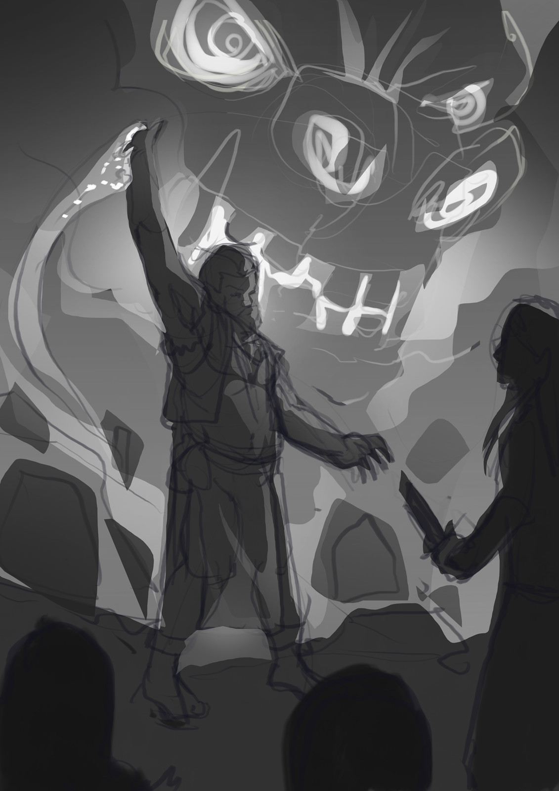 Quick greyscale pass