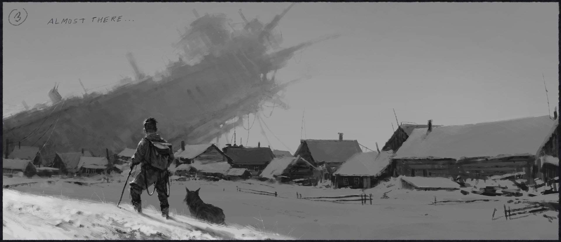 Jakub rozalski 1920 emergency landing process03