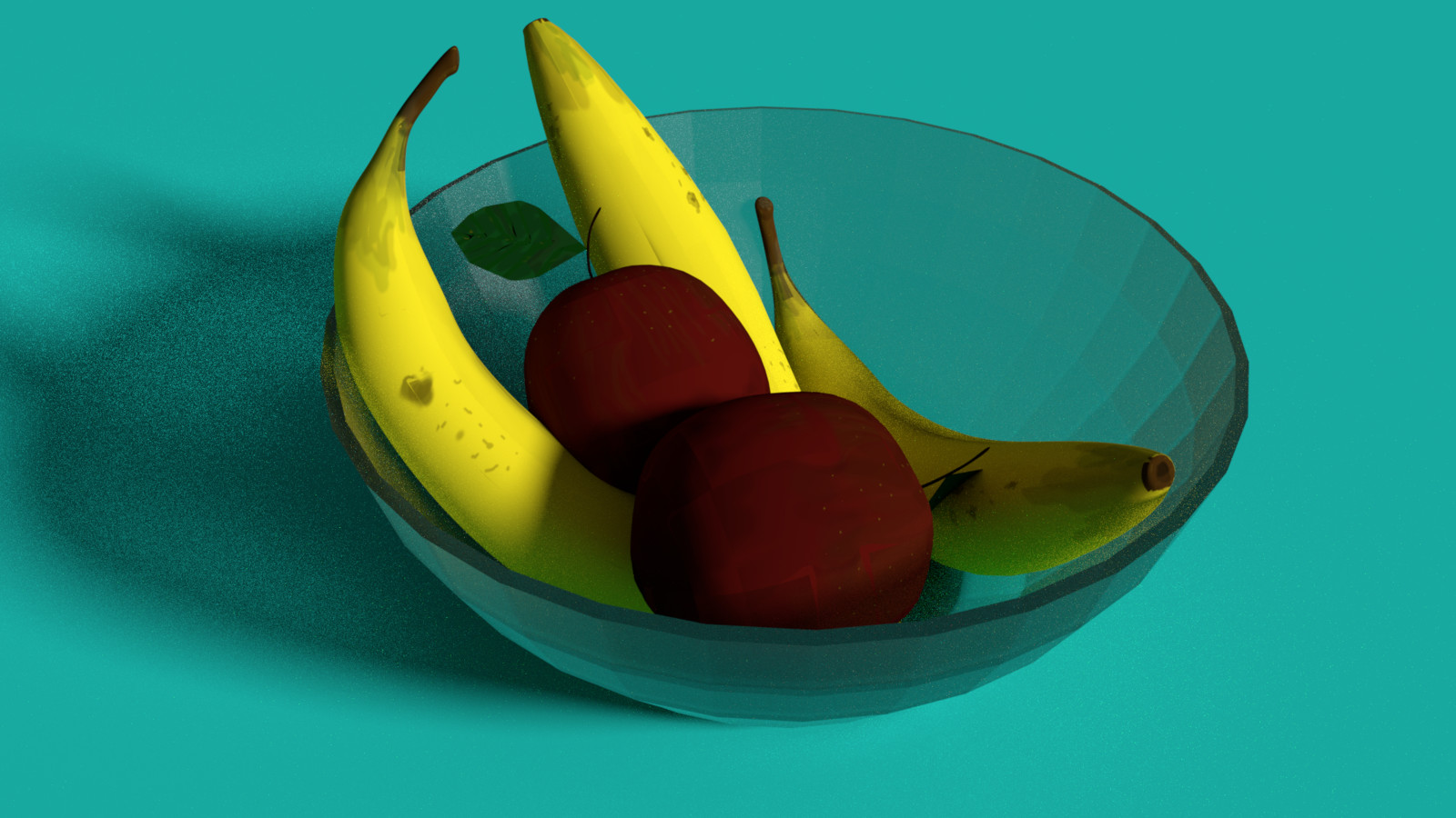Fruit Composition in Glass Container