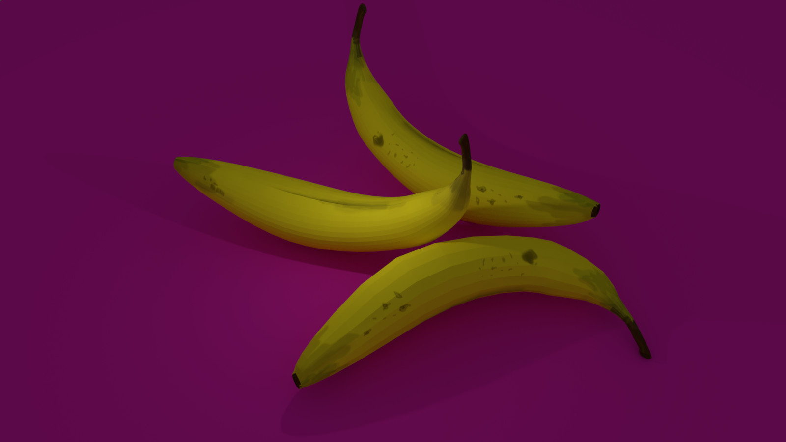 3d Hand Painted Bananas