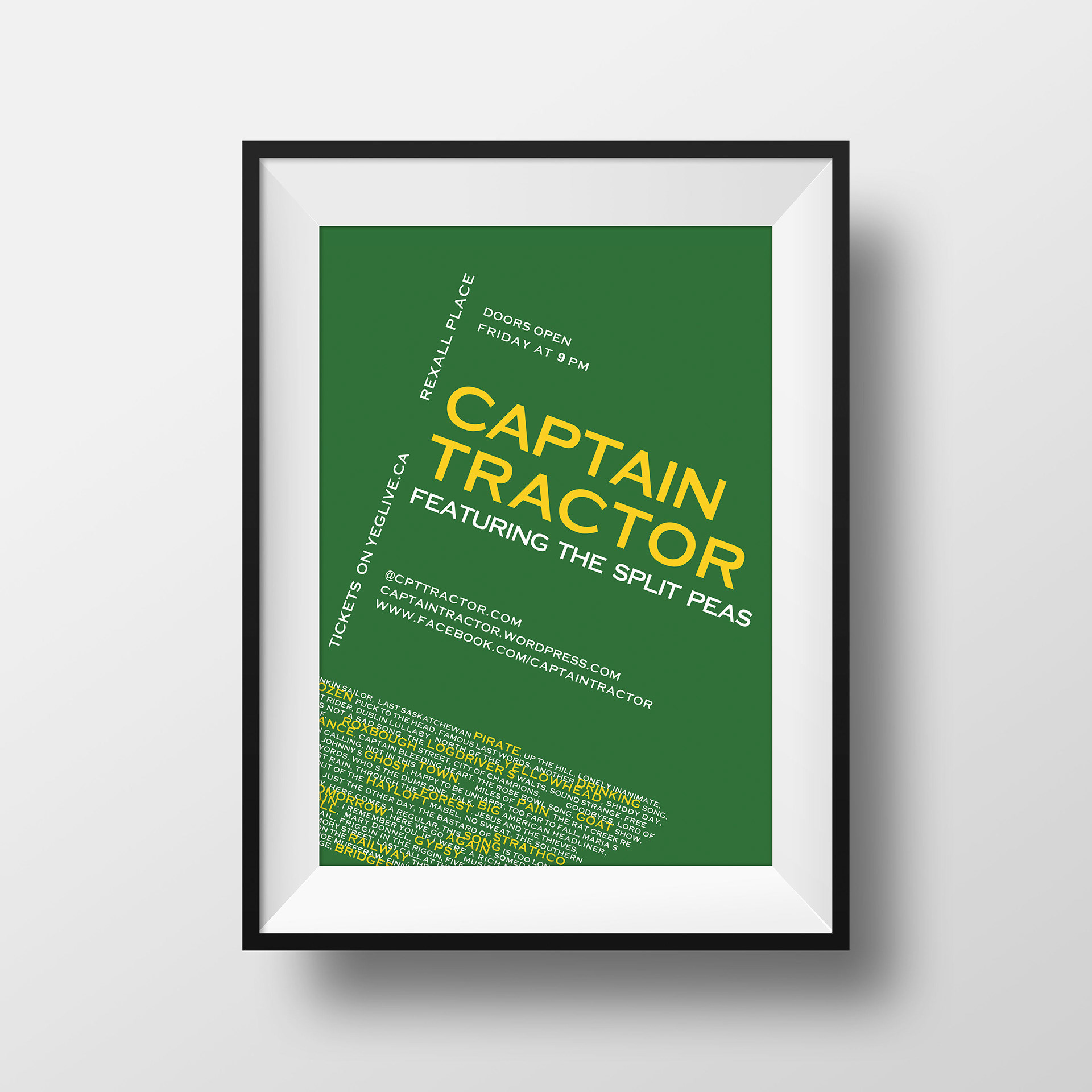 colleen knight typography captain tractor fan art