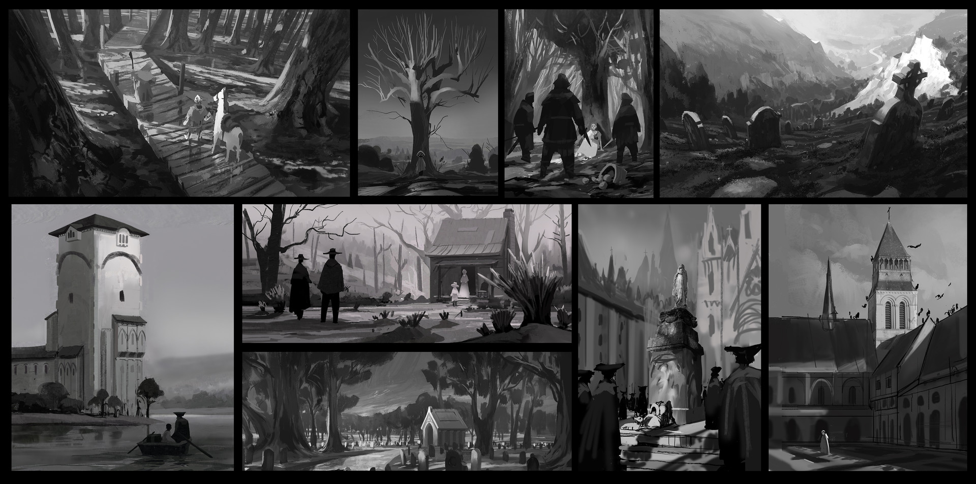 Quentin regnes bw sketches01