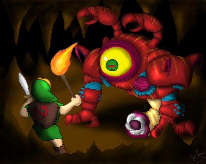'Young Link vs. Queen Gohma'