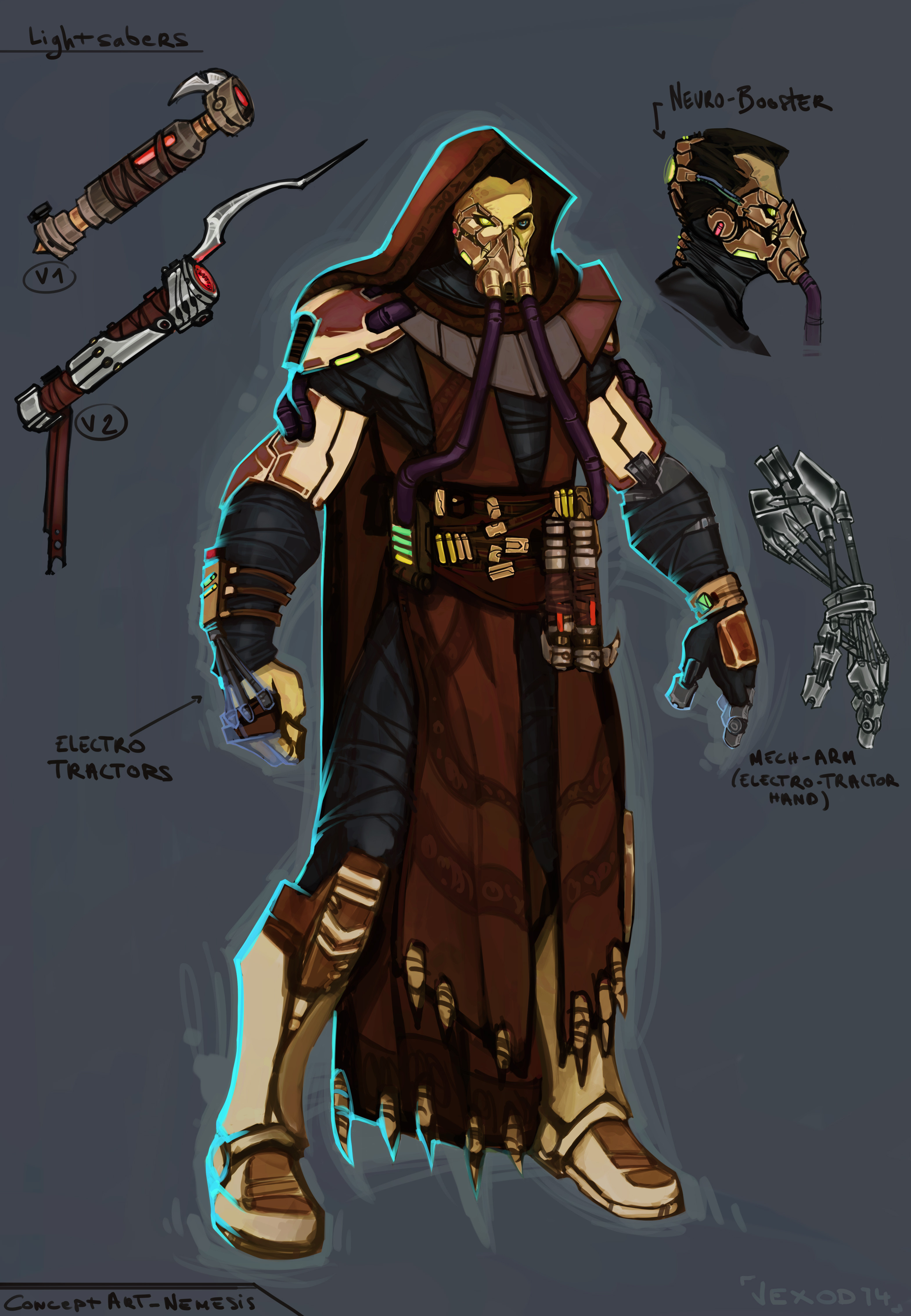 Nemesis of Mevenn, remade and ( I guess ) the version I will make in 3D later =)