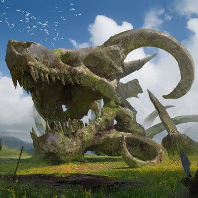 Steve wang dragon skull
