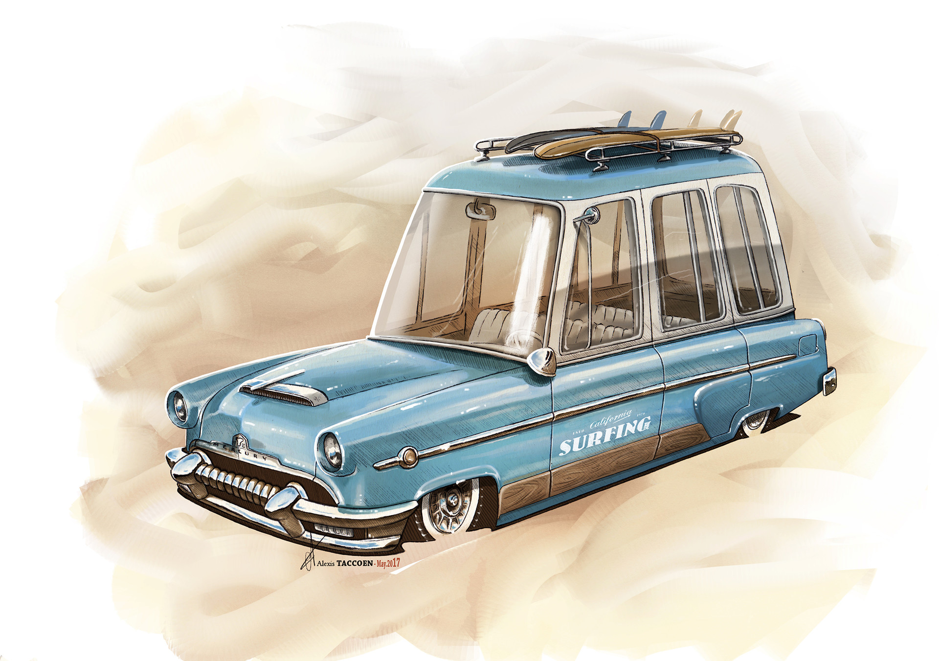 Alexis taccoen surf wagon mercury 54 low