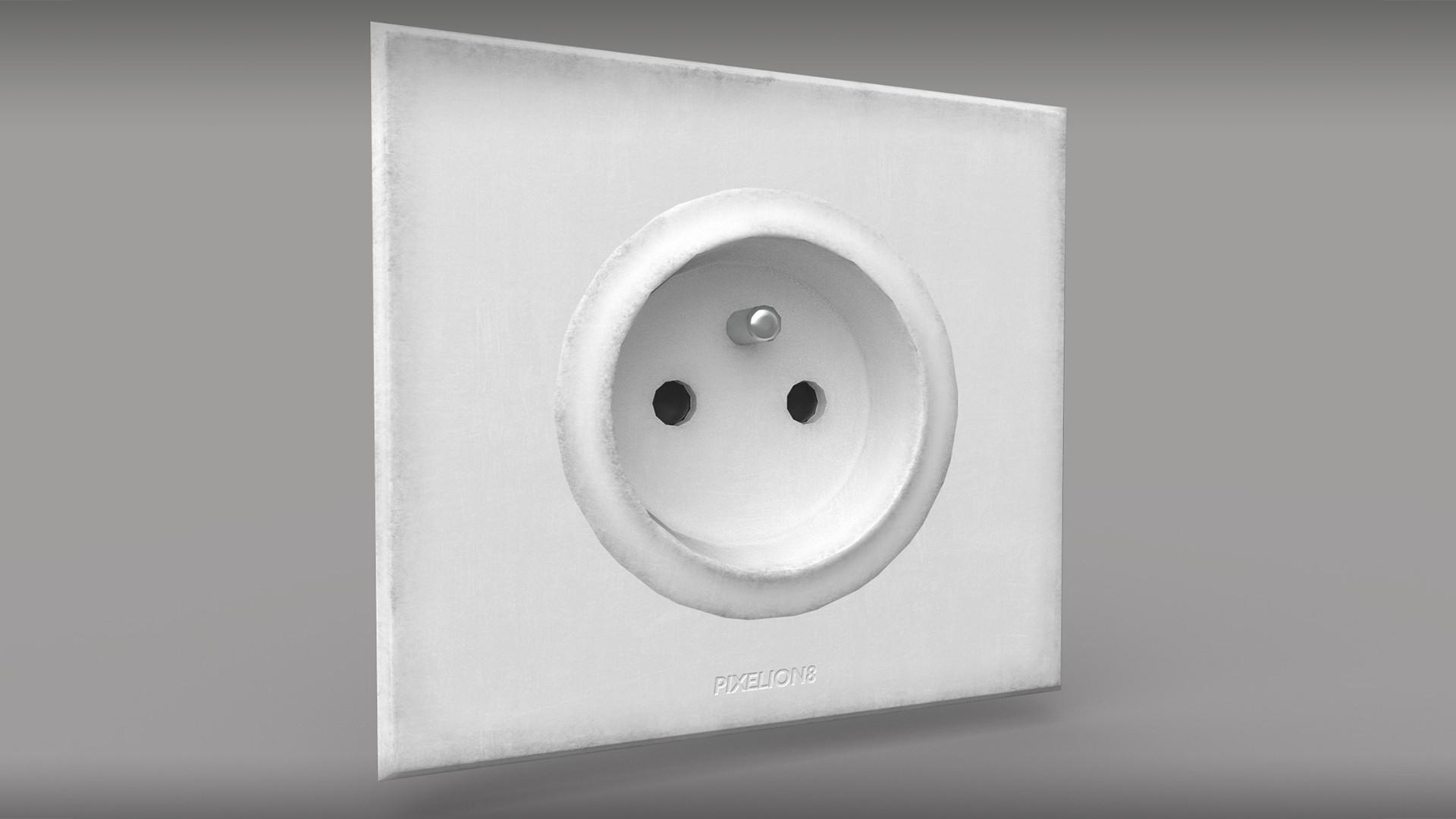 electrical outlet - 3D model by pixelion8 (@pixelion8) - Sketchfab