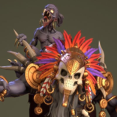 Witch Doctor Artstation Ancient Civilizations Challenge
