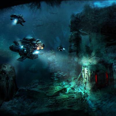 Sebastien ecosse submarine box cthulhu underwater sebastienecosse sea small