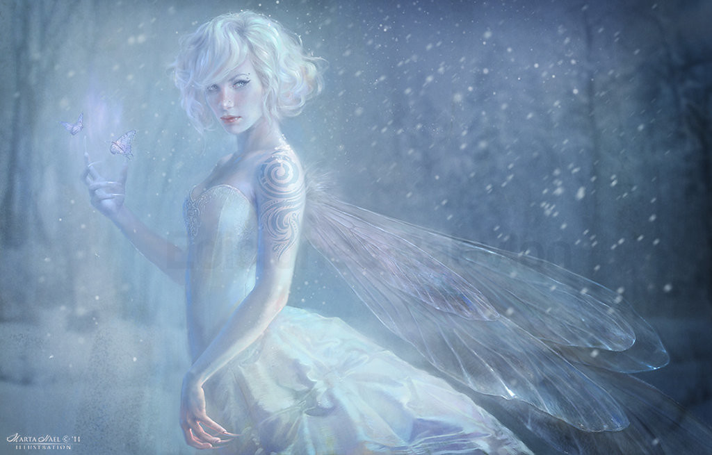 Marta nael white fairy by martanael d41hcjg