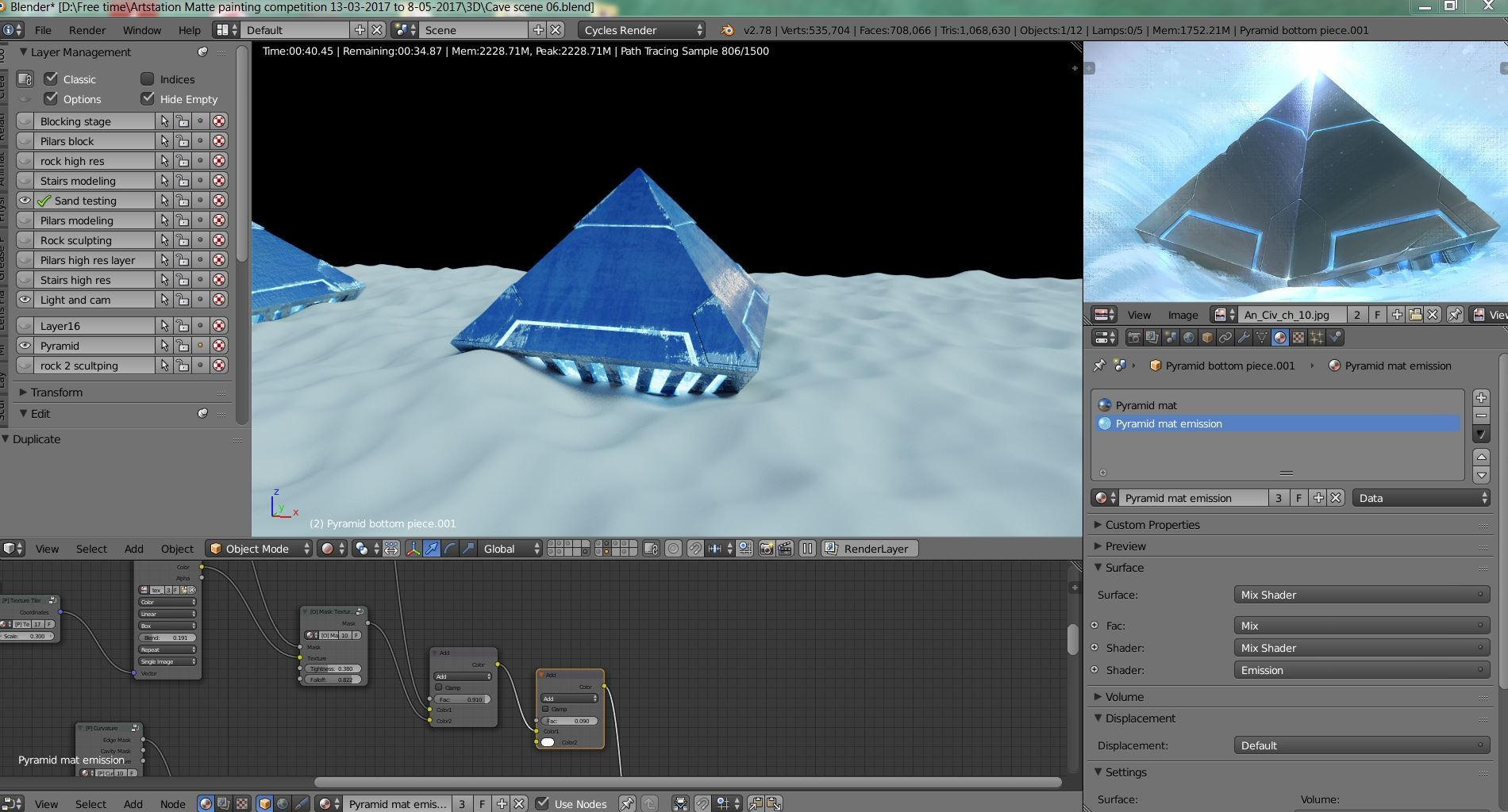 Alan planes pyramid progress 01
