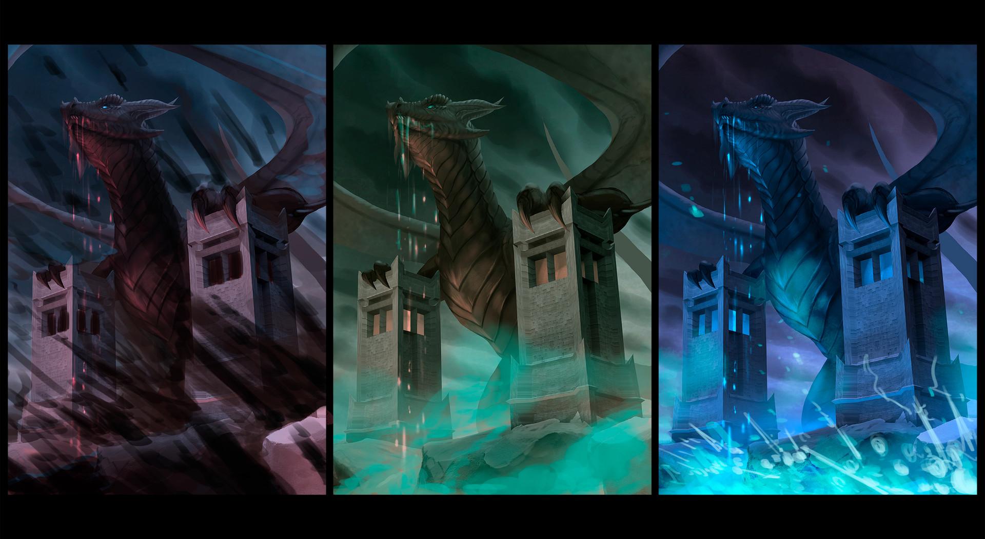 Robert crescenzio horror dragon colour concepts