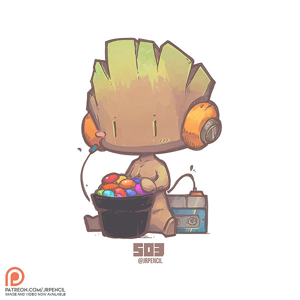 Artstation 503 Baby Groot Jr Pencil