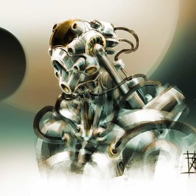 Atom cyber concept exosuit