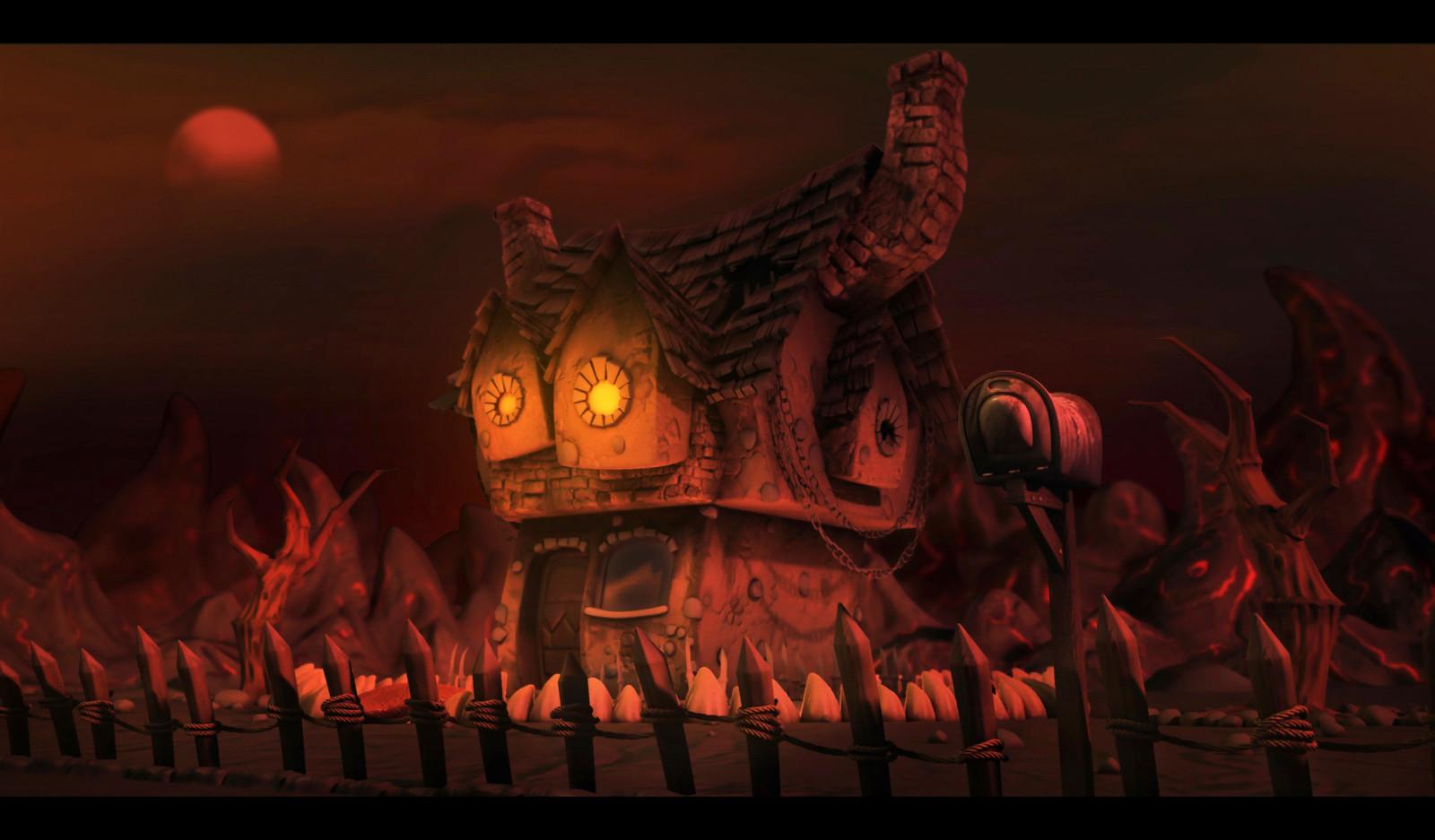 satan house