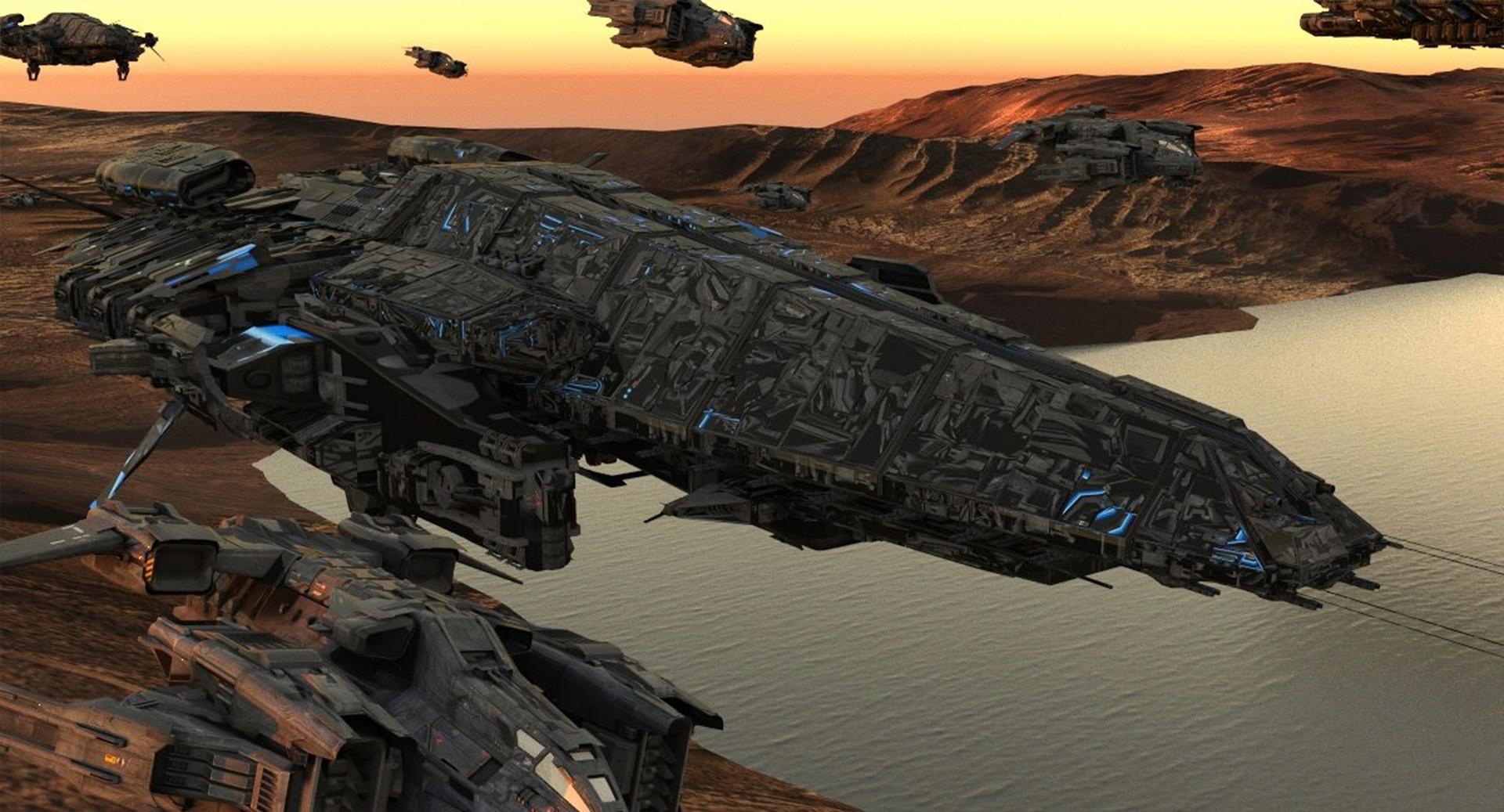 David tilton scifi destroyer obj 3 v5 render