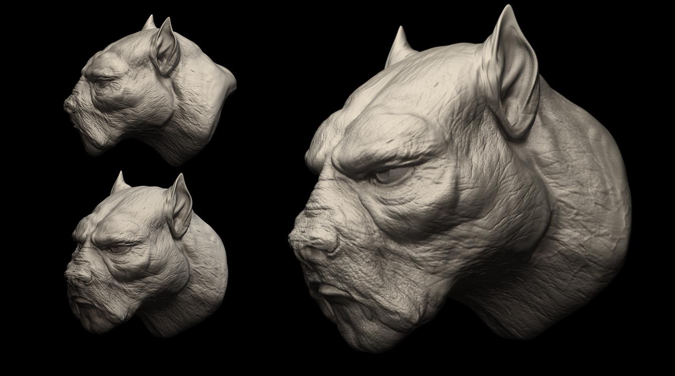 HeadDog - character WIP