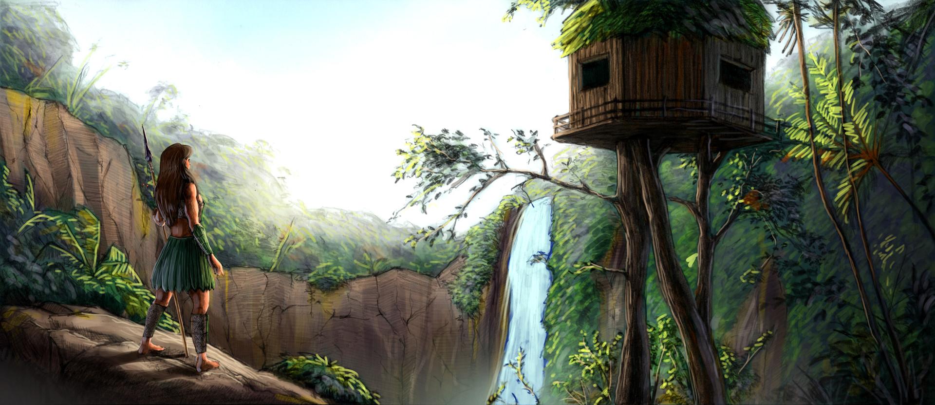 Denis aurelian mocanu jungle environment artstation