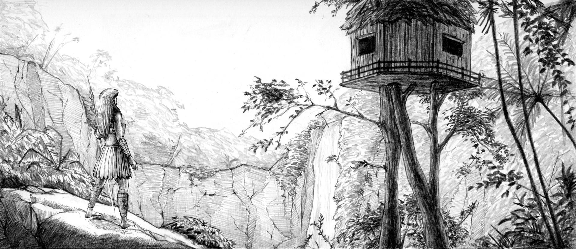 Denis aurelian mocanu jungle environment sketch