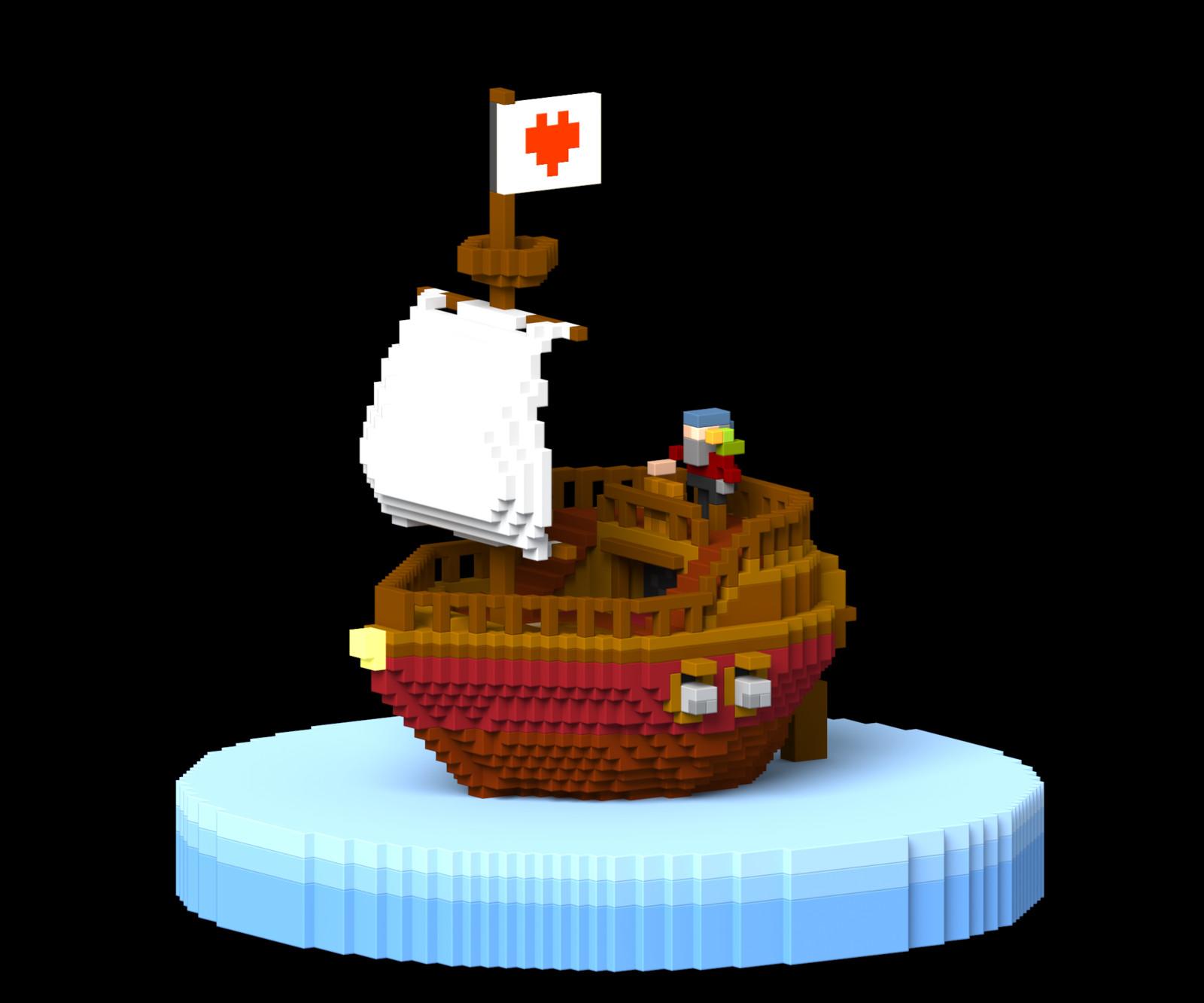 Voxel Pirateship