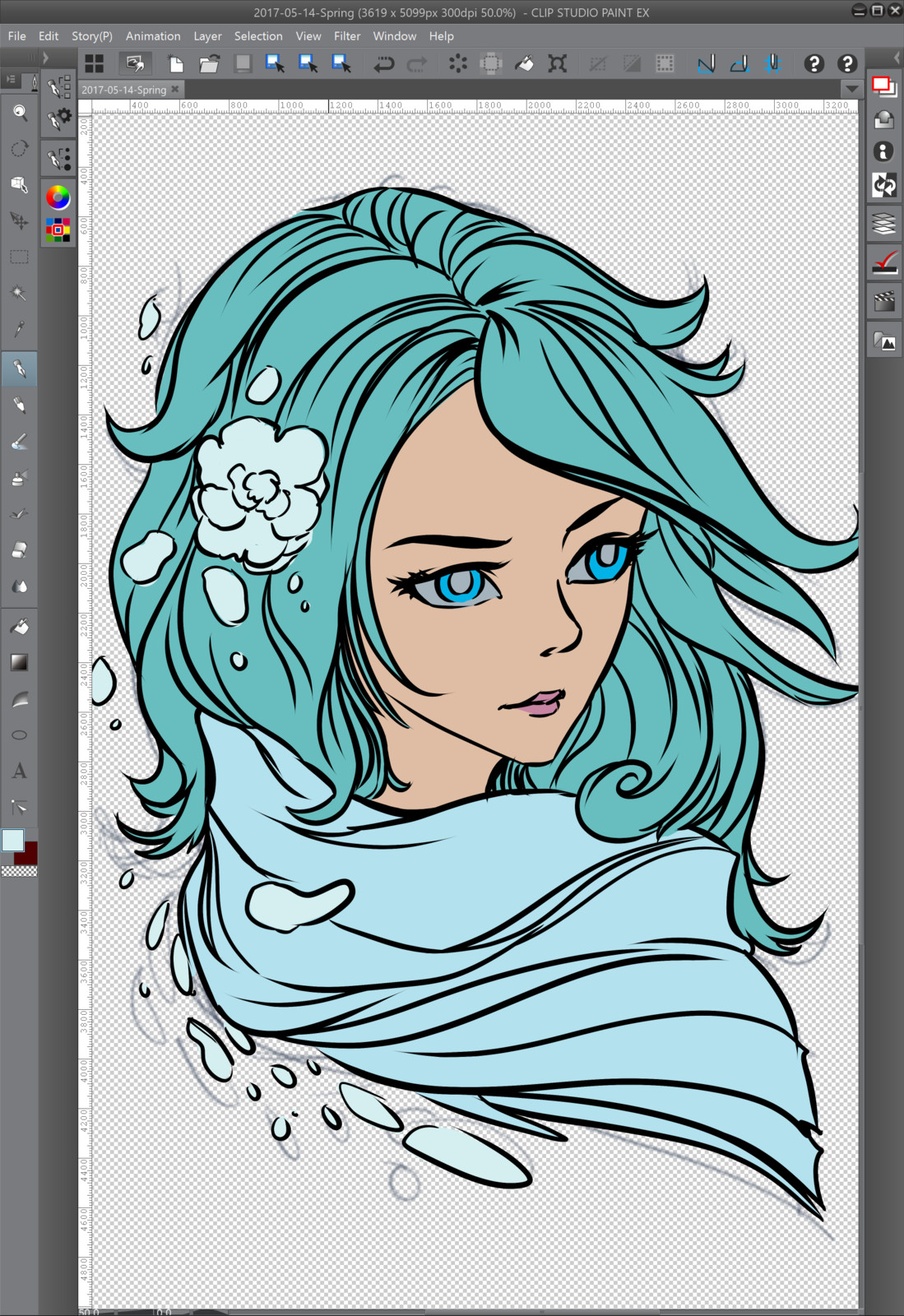 03 - Painting the base color flat tones