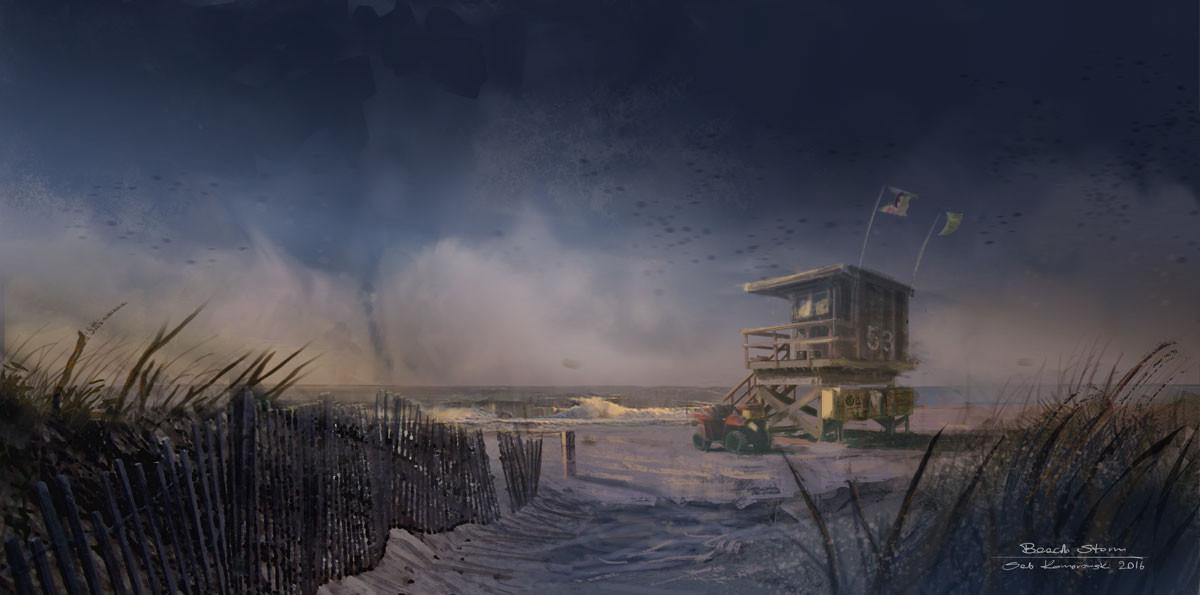 Sebastian komorowski beach storm