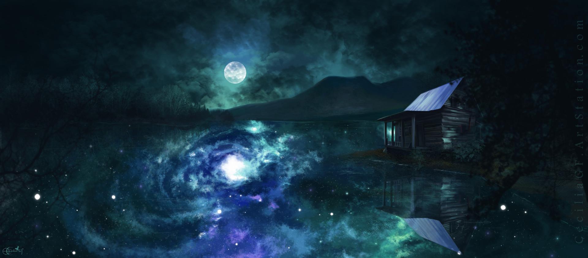 Cecilia g f portada en el lago