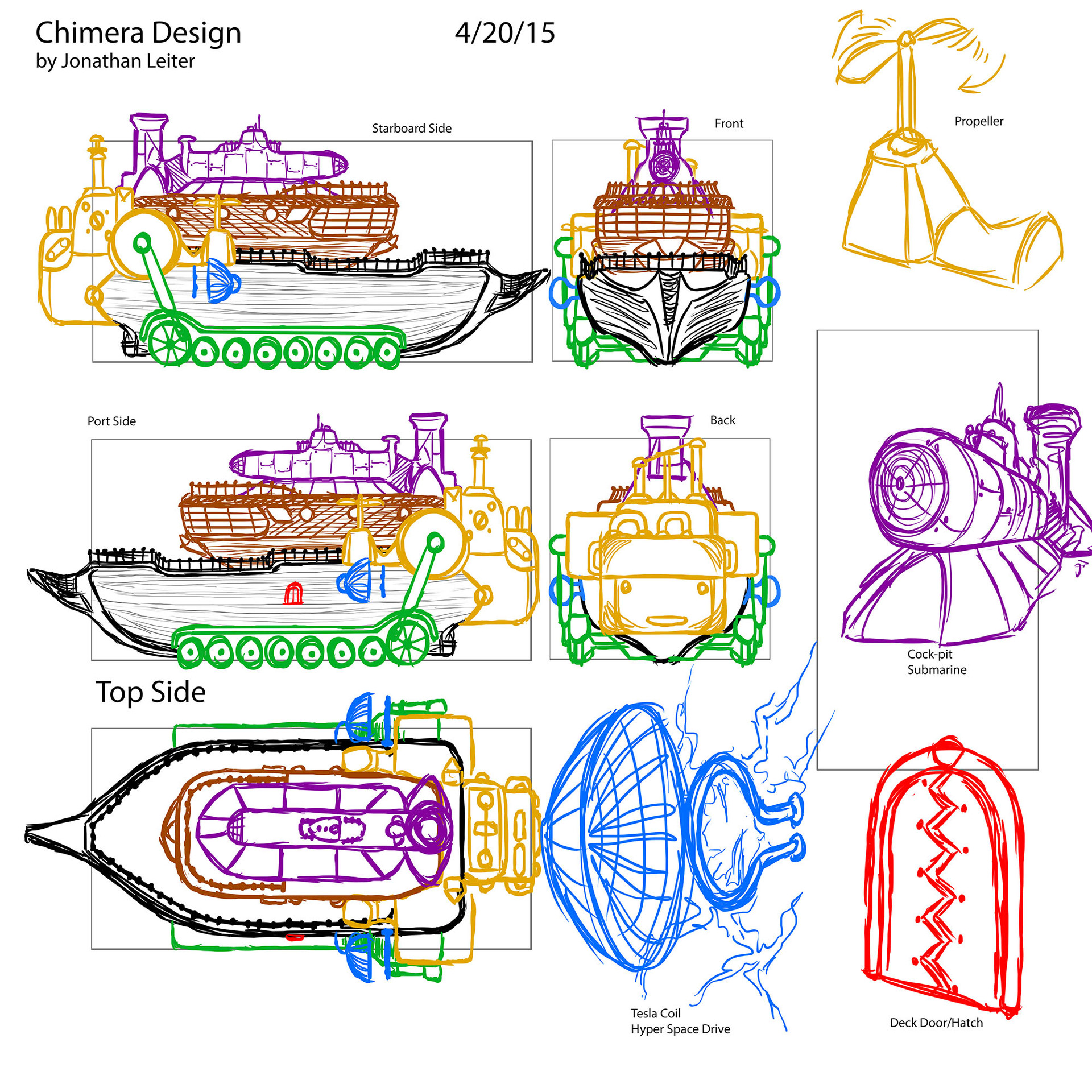 ArtStation - Chimera Space Ship - Exterior Design, Jonathan Leiter