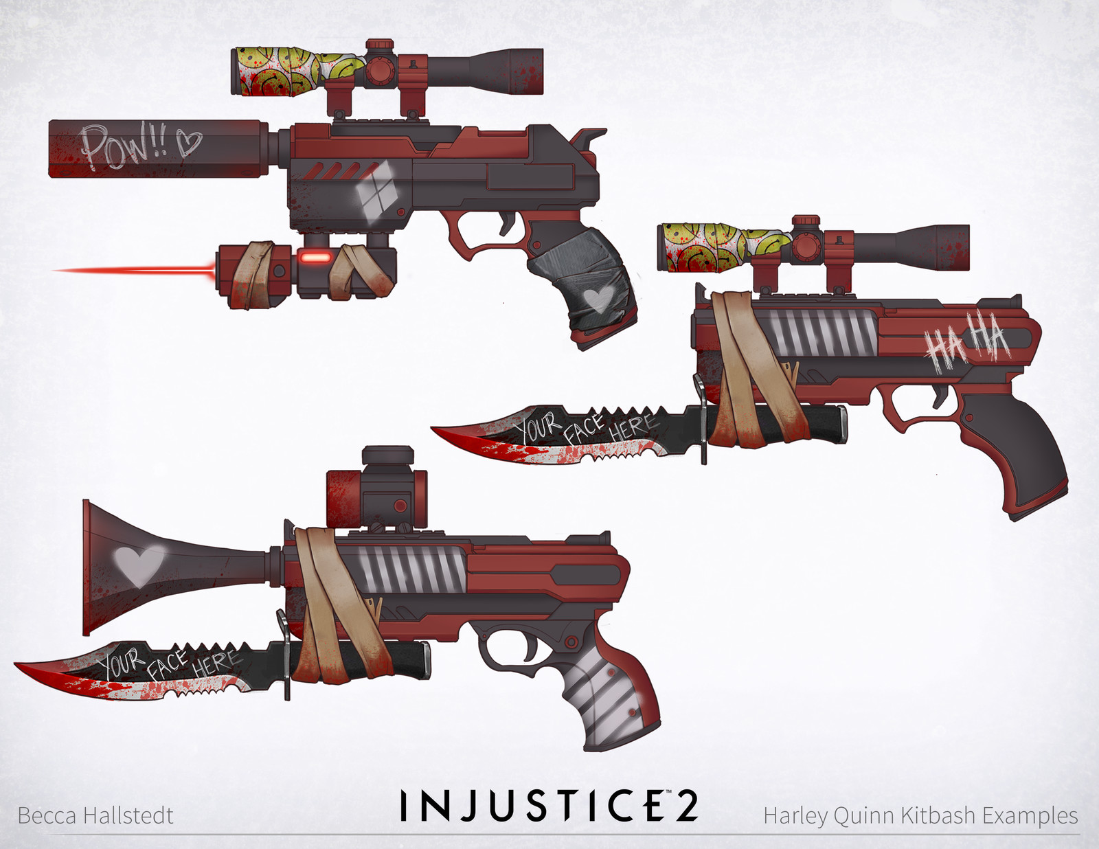 Injustice 2: Green Lantern/Harley Quinn/NPC guns