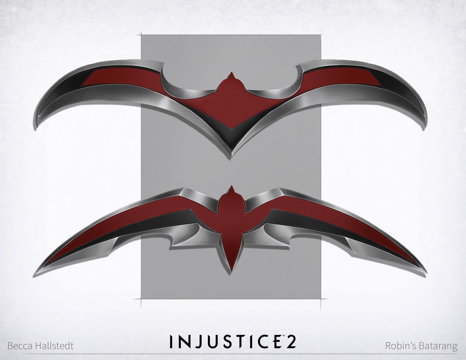Becca Hallstedt Design Injustice 2 Batman Robin Red
