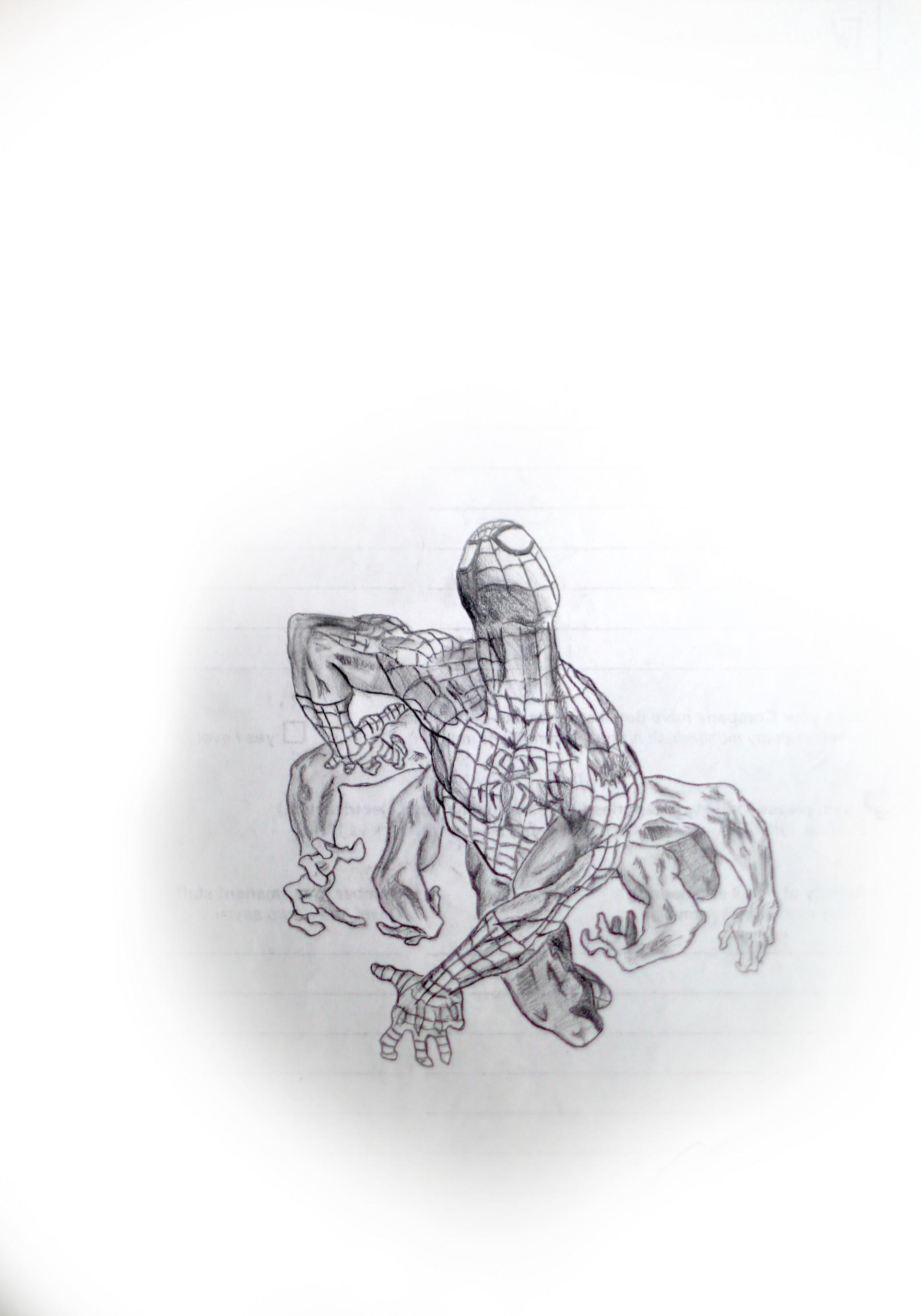 Ogeday çelik spiderman pencil drawing