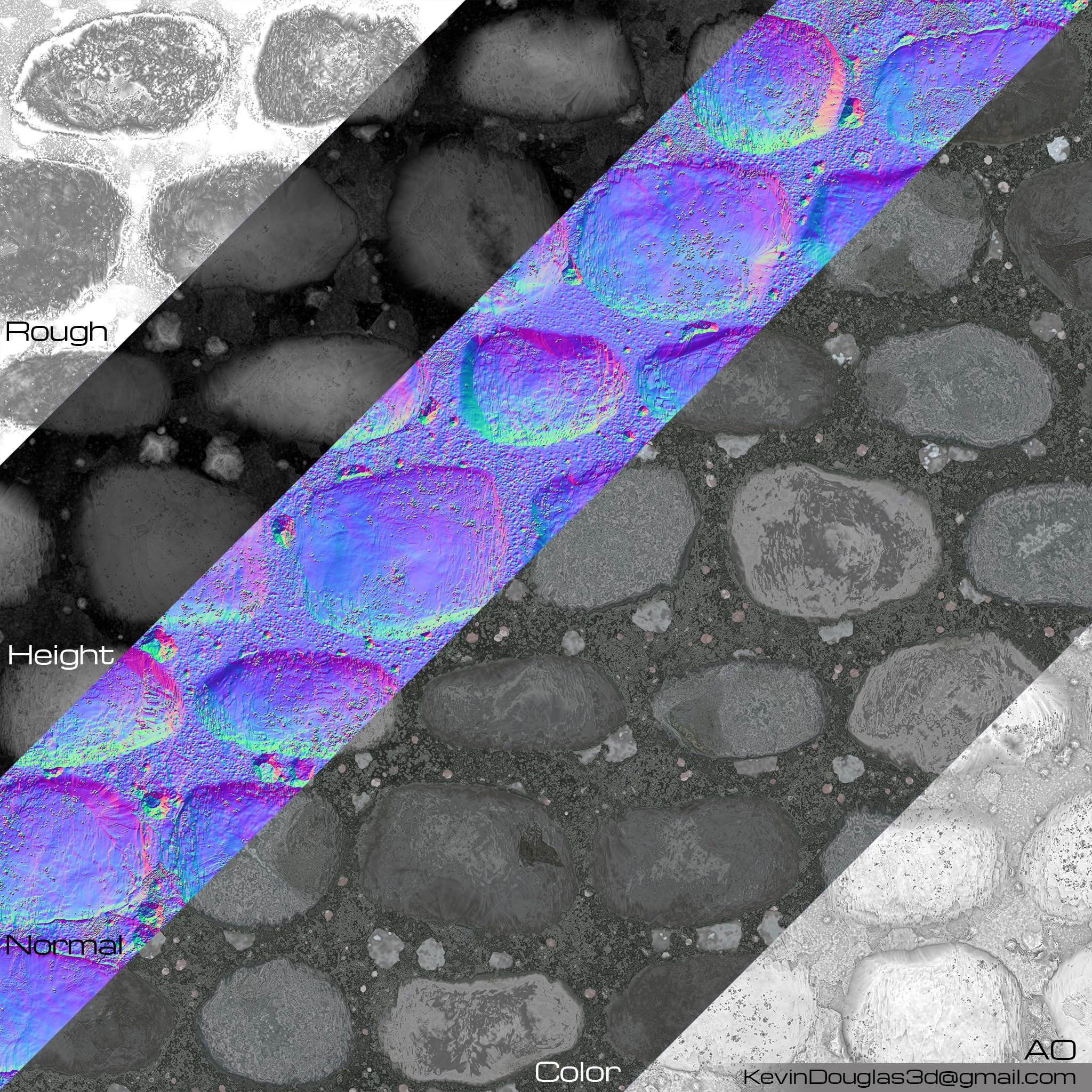 Cobblestone texture maps