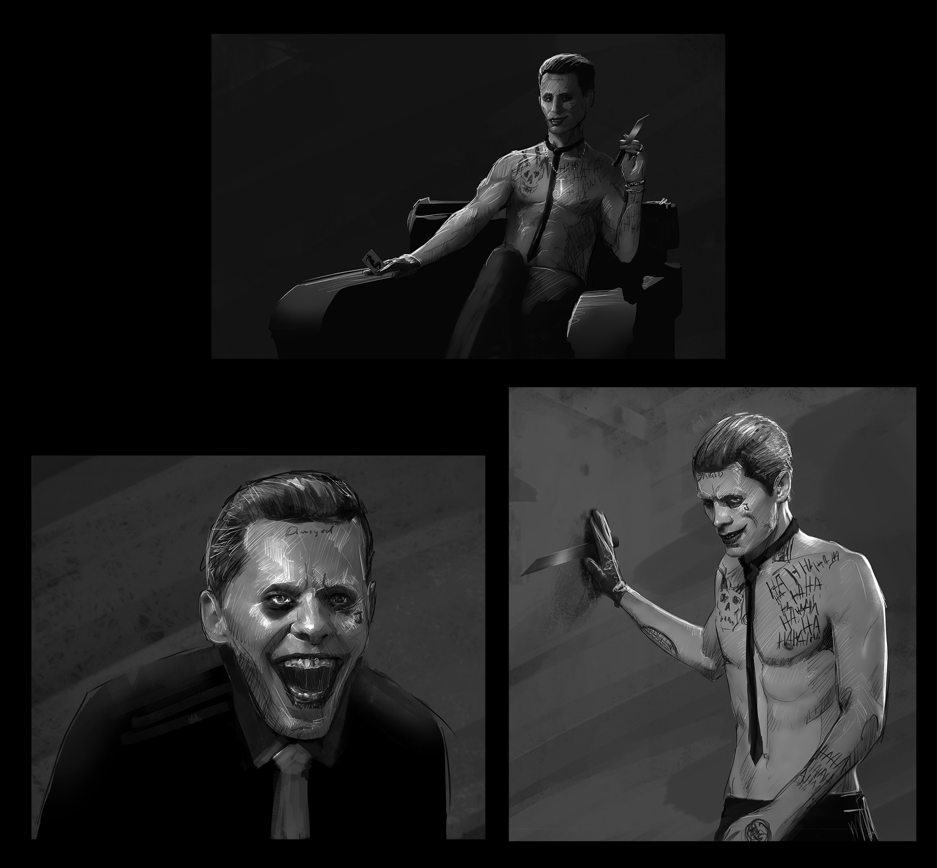 Andrew hunt suicide squx joker sketches