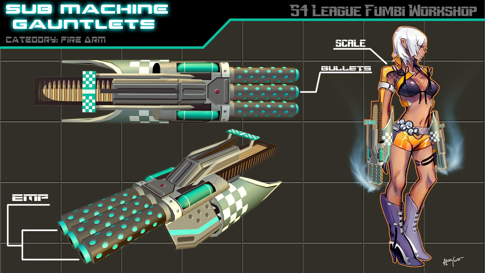 ArtStation - S4 League Sub Machine Gauntlets, Alvar Canto