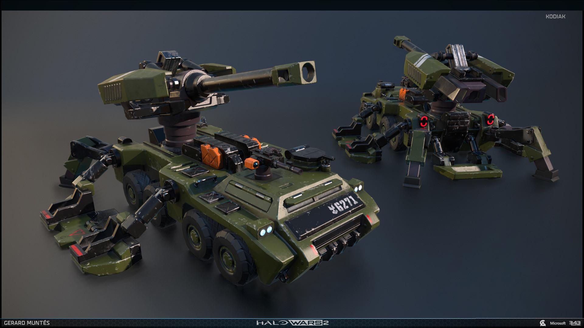 ArtStation - Halo wars 2 Kodiak, Gerard Muntés