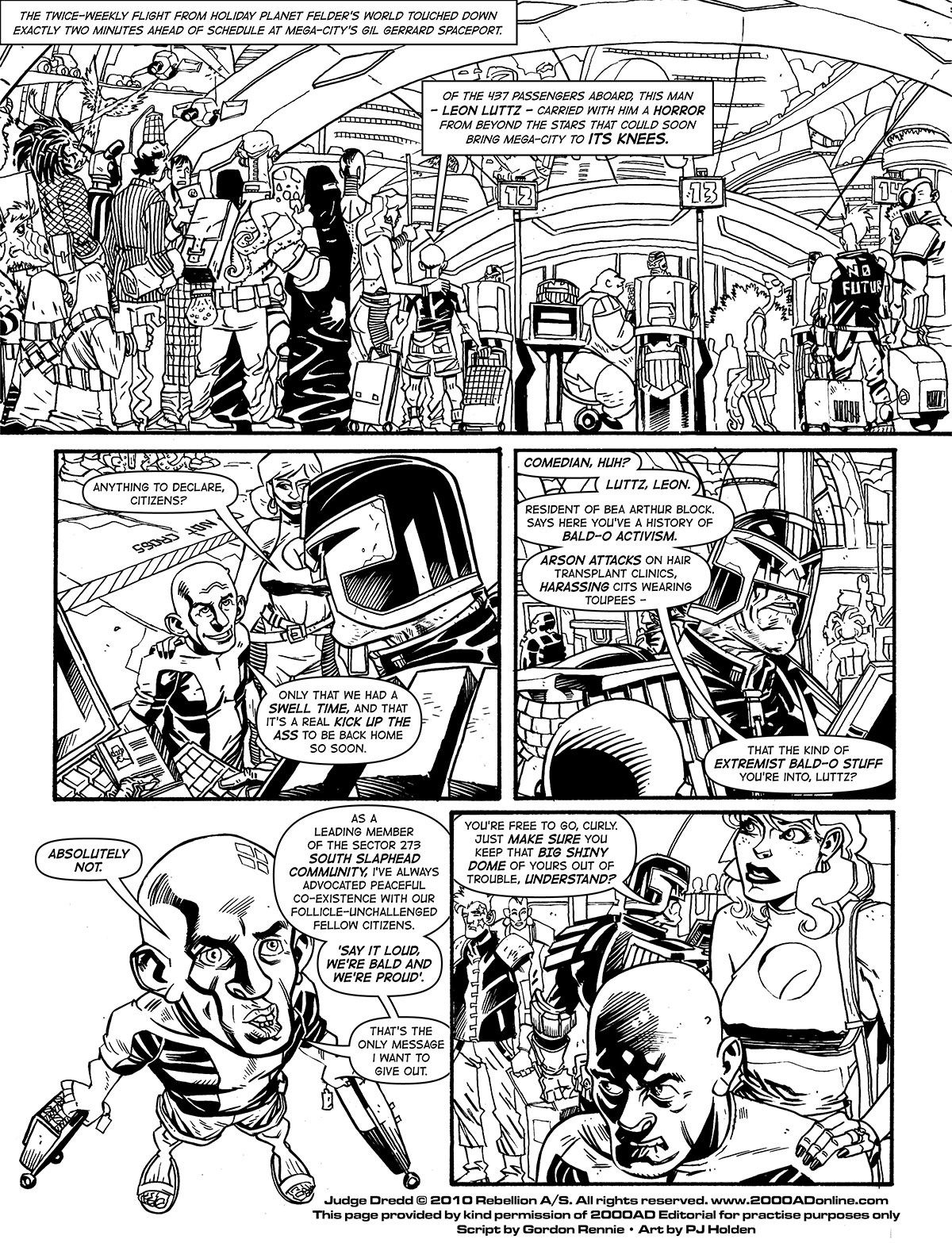 2000AD - Lettering Practice Pages