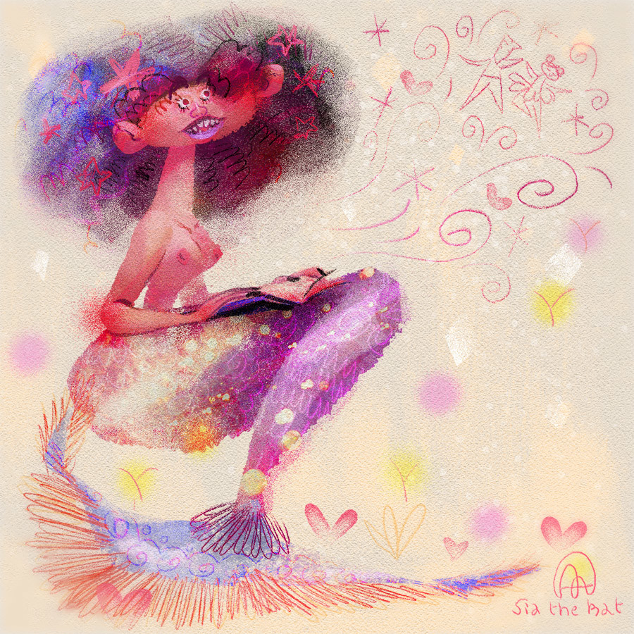 Anais marmonier mermaid drawing disney concept art anais marmonier french illustrator