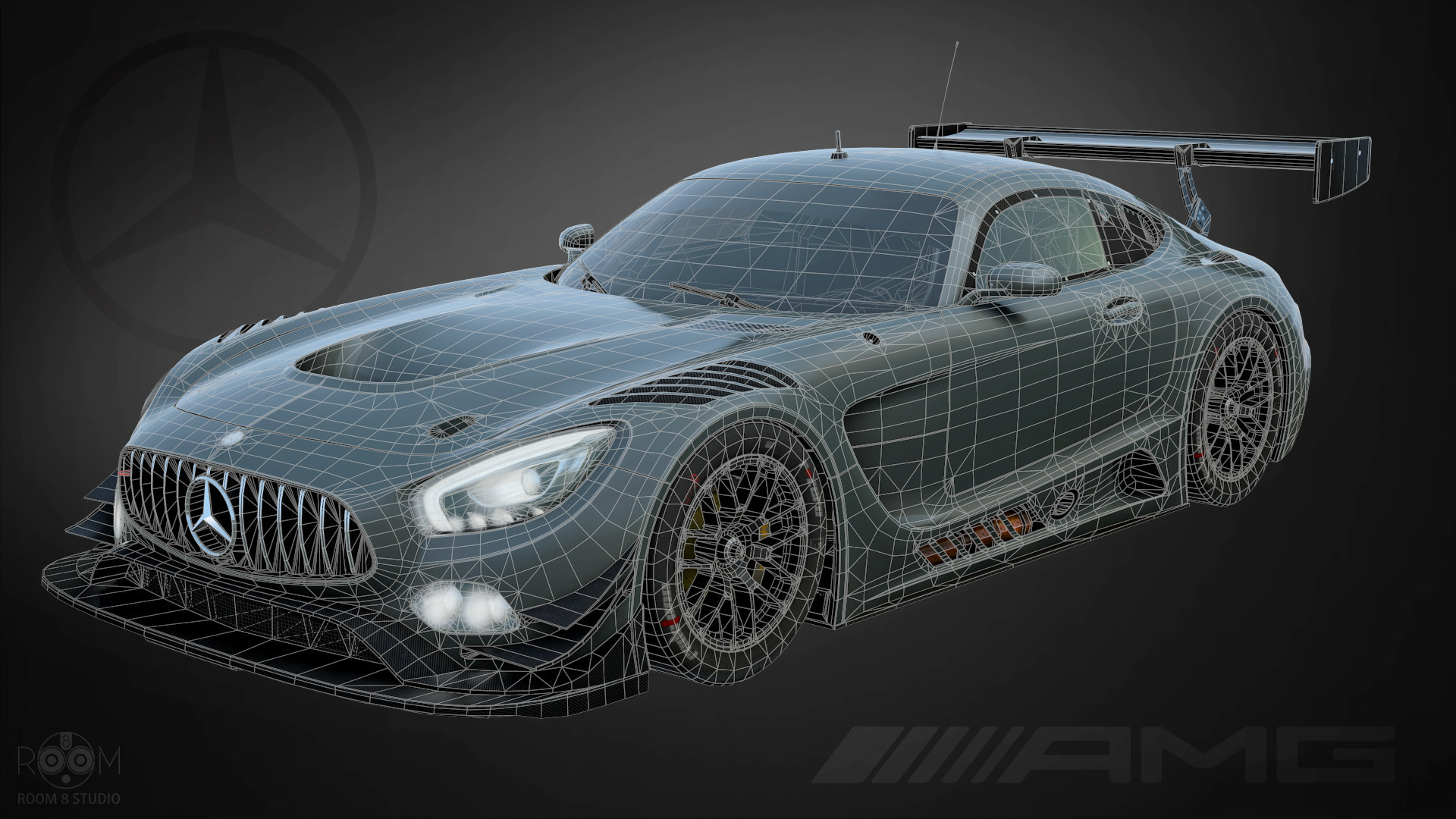 Mercedes AMG GT3 for racing game