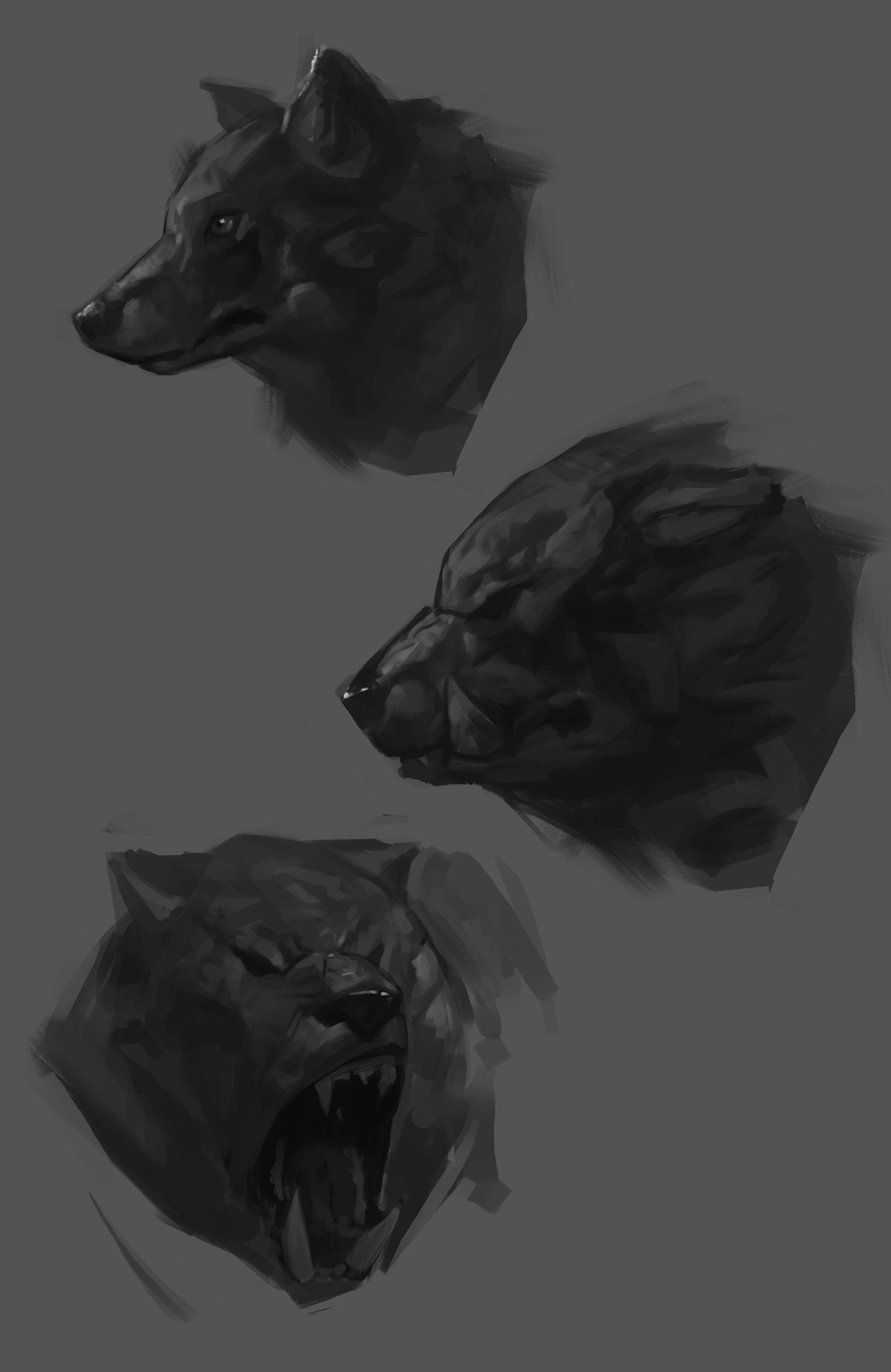 Some tiny studies for the mount of the green fellows