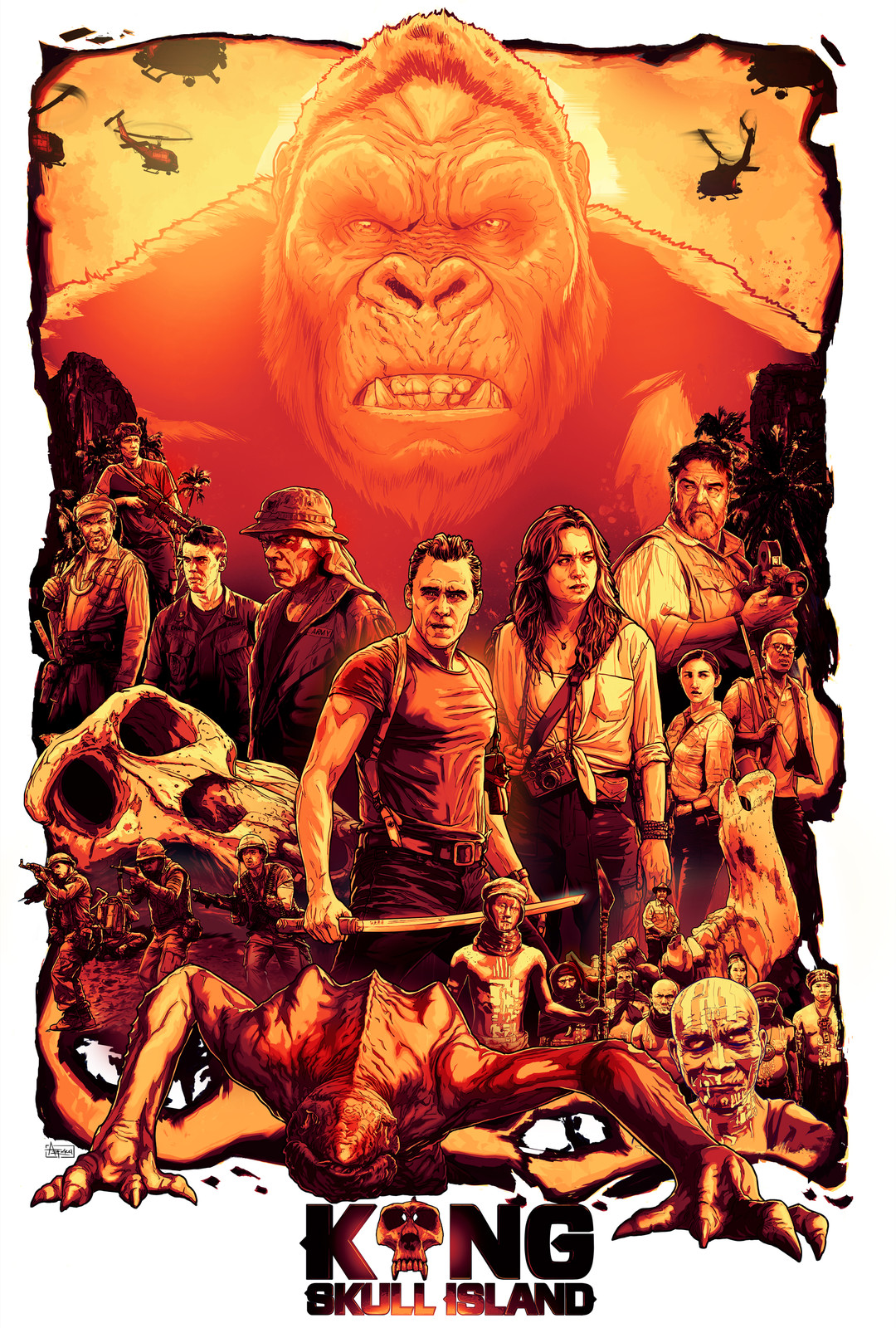 KONG Skull Island Alternative movie poster design (Fanart)