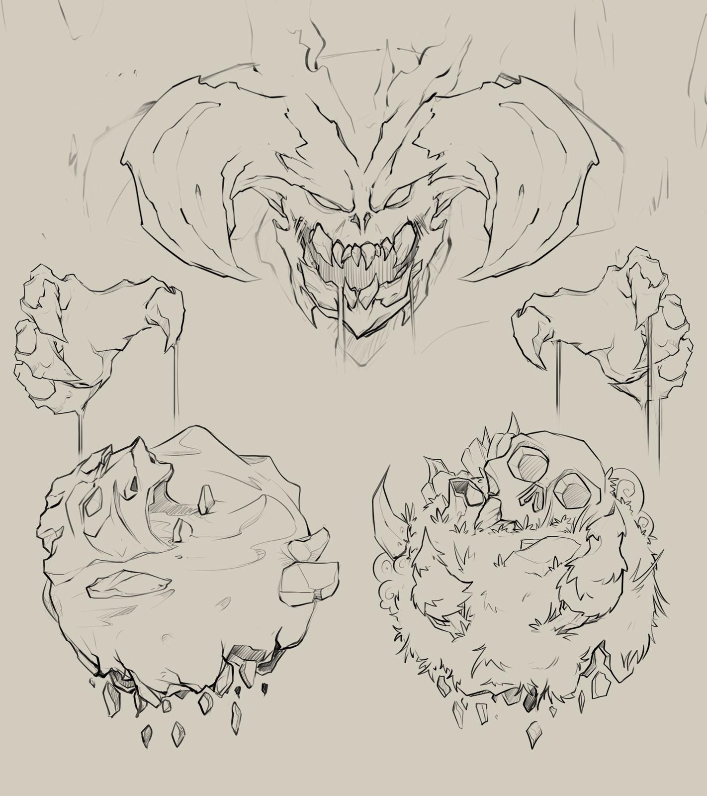 Header concept sketches