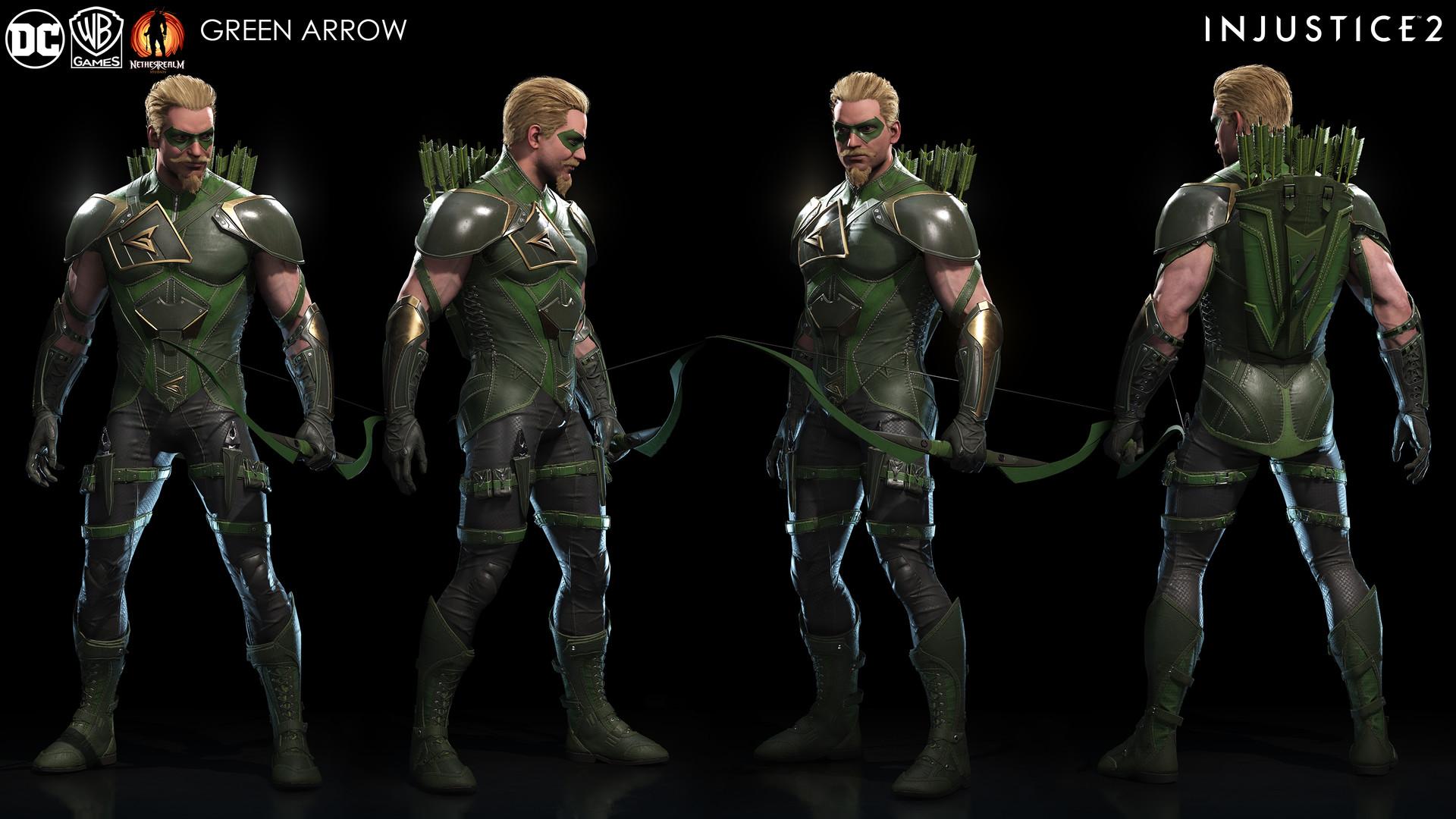 Injustice 2 Green Arrow Game Asset
