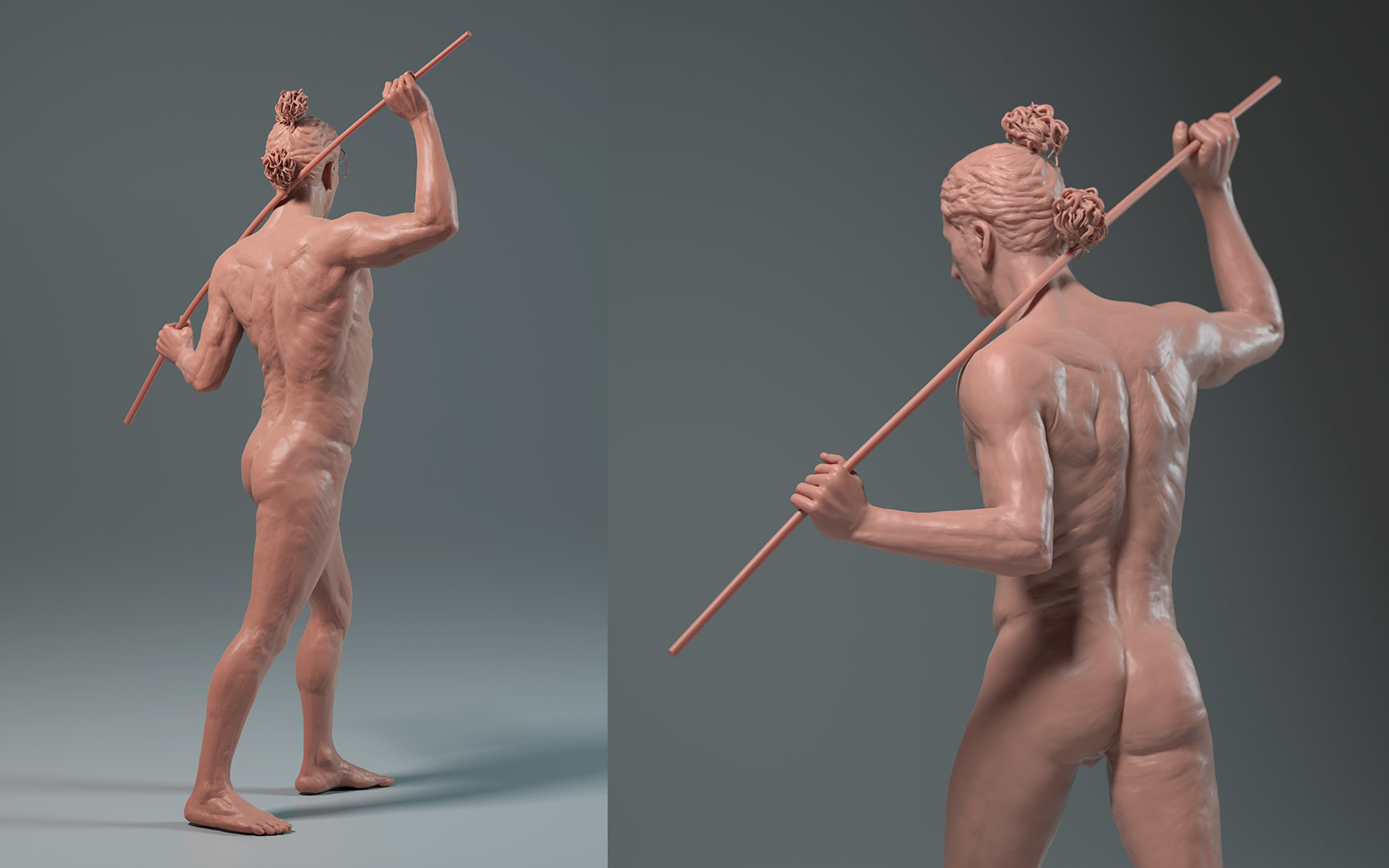 Carl christian gehl anatomystudy fullfigure back
