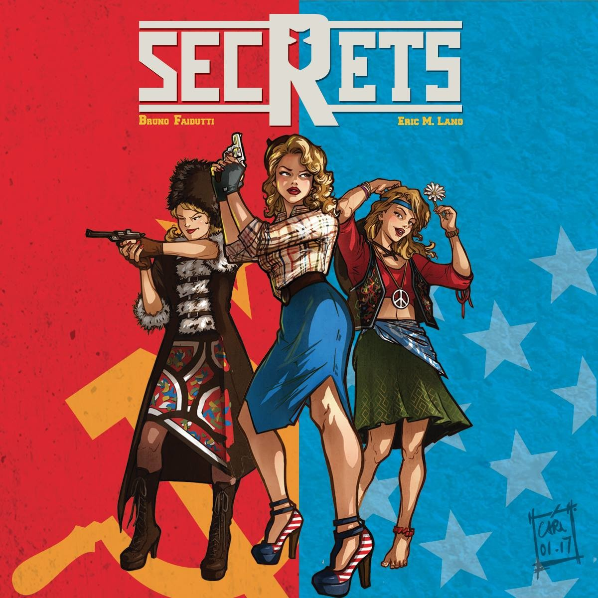 Pinup for board game : SECRETS !