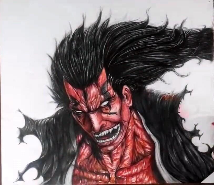 Drawing Zaraki Kenpachi Bankai Bleach Timelapse