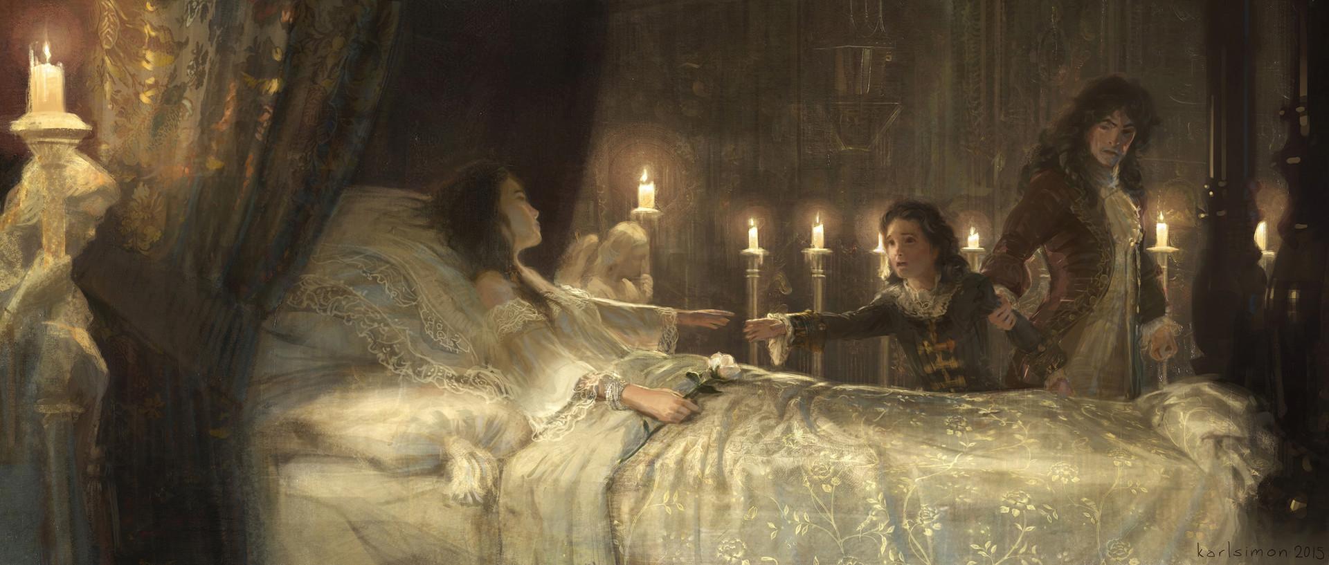 Artstation Queen S Deathbed Karlsimon