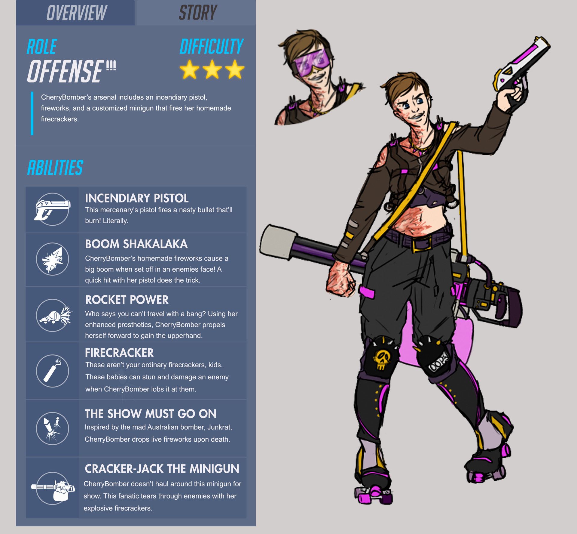 ArtStation - Overwatch Fan Hero CherryBomber, Charity Lauhon