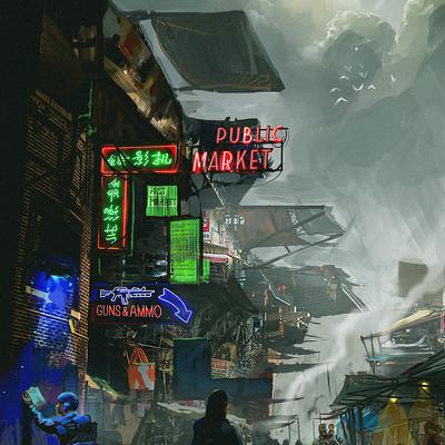 Samuel silverman 2054 market scene